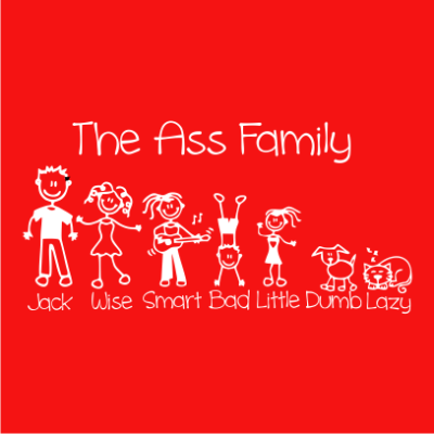 the-ass-family-red-square