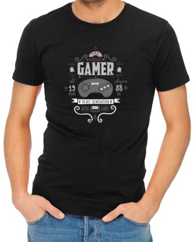 the mega gamer mens tshirt black