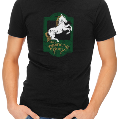 the prancing pony mens tshirt black