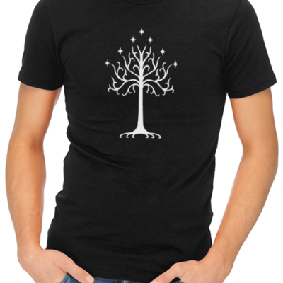 tree of gondor mens tshirt black