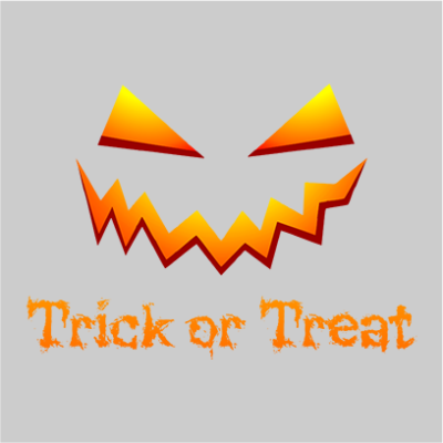 trick or treat grey square