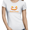 trick or treat ladies tshirt white