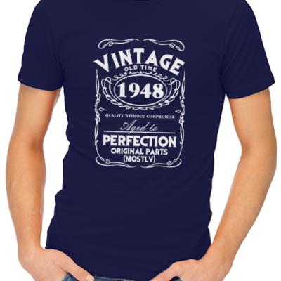 vintage mens tshirt navy