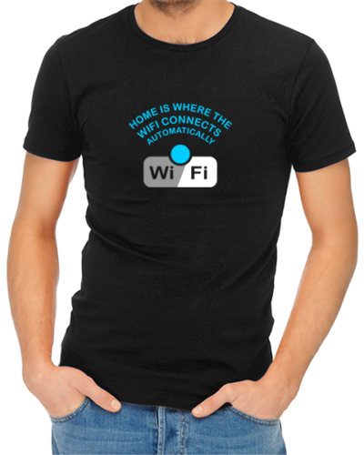 wifi mens tshirt black