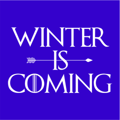winter is coming blue square