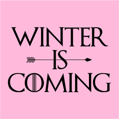 winter is coming pink square