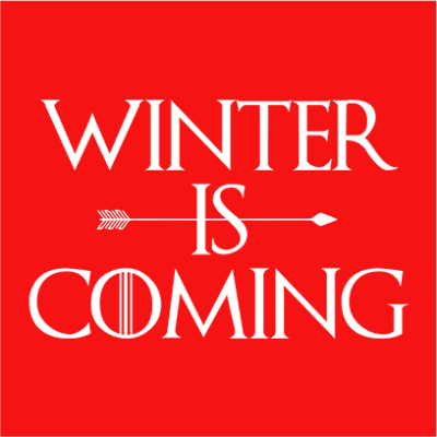 winter is coming red square