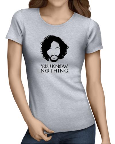 you know nothing ladies tshirt grey
