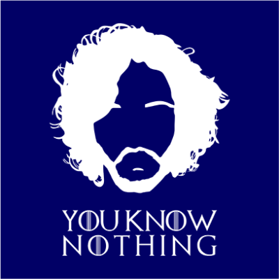 you know nothing navy square