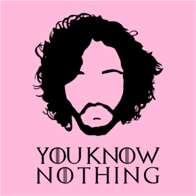 you know nothing pink square