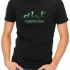 zombievolution mens tshirt black