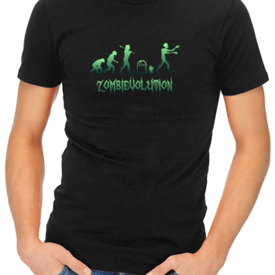 zombievolution mens tshirt black