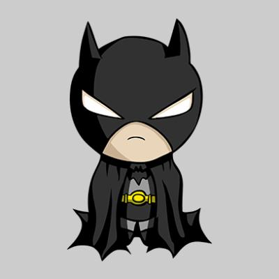 baby batman grey square