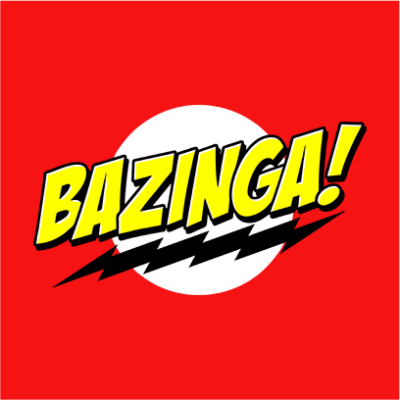 bazinga red square