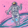 cosmonaut light pink