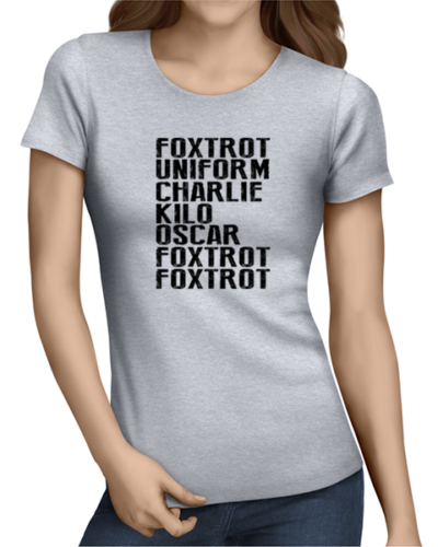 foxtrot uniform ladies tshirt grey
