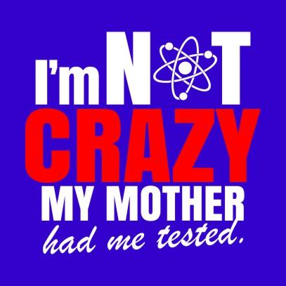 im not crazy royal blue
