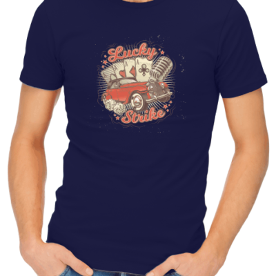 lucky strike mens navy shirt