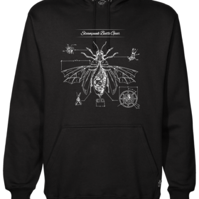 steampunk beatle gear black hoodie