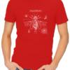 steampunk beatle gear mens red shirt