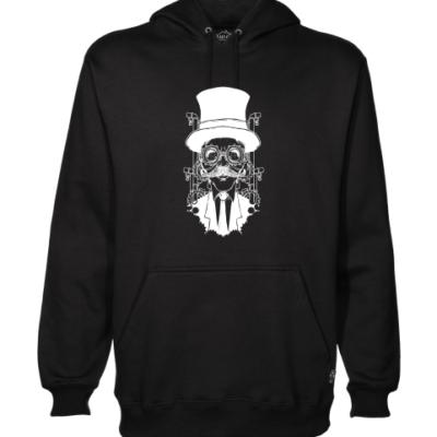 steampunk gentleman black hoodie