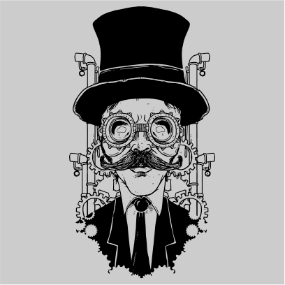 steampunk gentleman grey