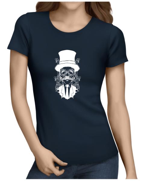 steampunk gentleman ladies navy shirt