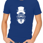 steampunk gentleman mens royal blue shirt