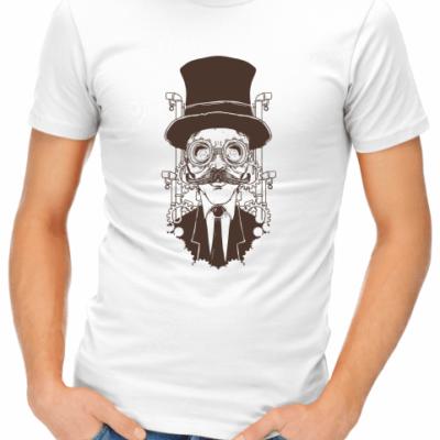 steampunk gentleman mens white shirt