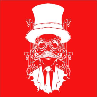 steampunk gentleman red