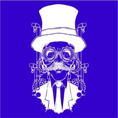 steampunk gentleman royal blue