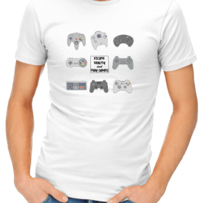 escape reality mens white shirt