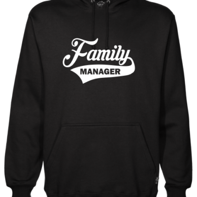 family manager black hoodie