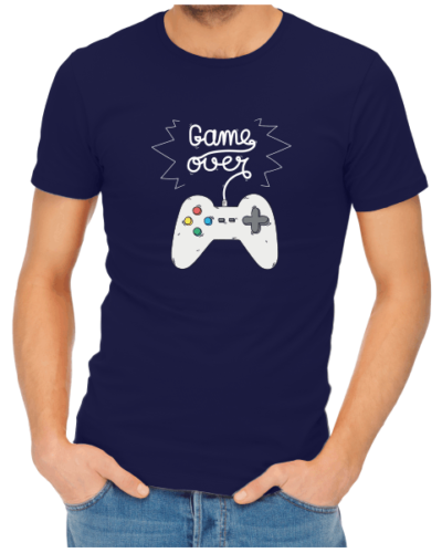 game over mens navy shirt