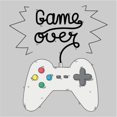 gamer over grey