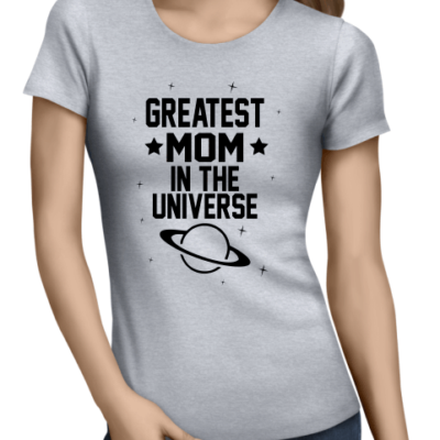 greatest mom ladies grey shirt