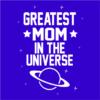 greatest mom royal blue