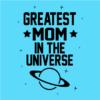 greatest mom sky blue