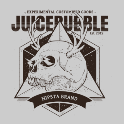 juicebubble skull 1 grey