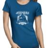 juicebubble skull 1 ladies royal blue shirt
