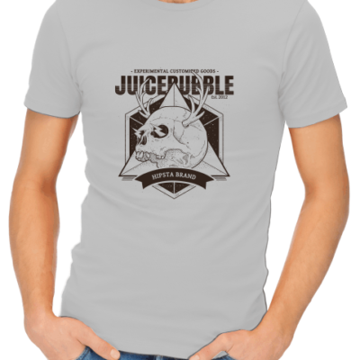 juicebubble skull 1 mens grey shirt