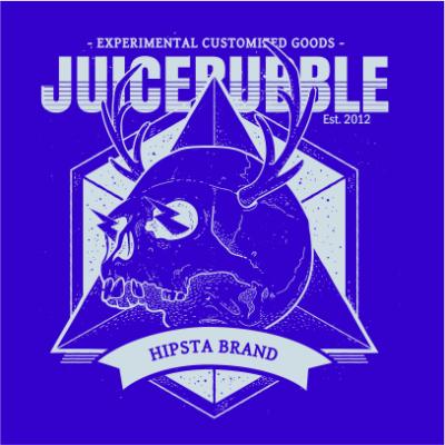 juicebubble skull 1 royal blue