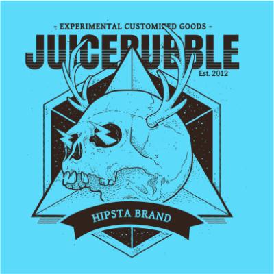 juicebubble skull 1 sky blue