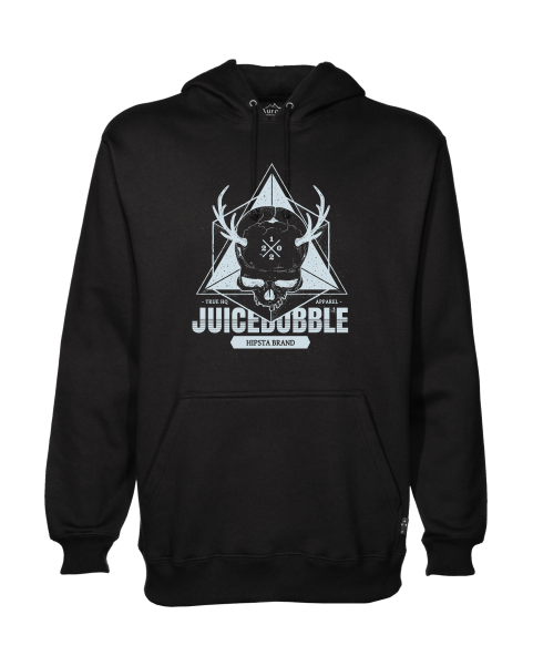 juicebubble skull black hoodie