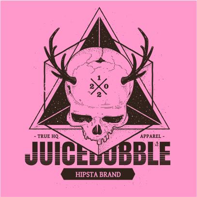 juicebubble skull light pink