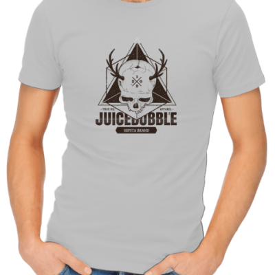 juicebubble skull mens grey shirt