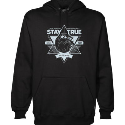 local hoolygans 1 black hoodie