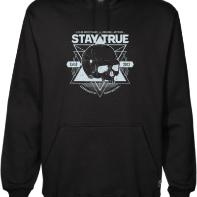 local hoolygans black hoodie