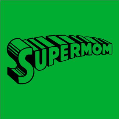 supermom 1 kelly green