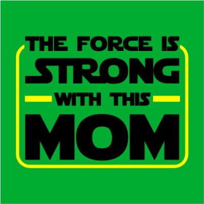 the force is strong kelly green